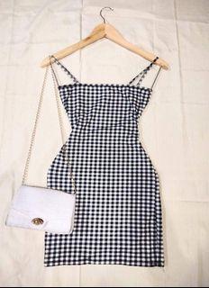 Korean Checkered Sexy Bodycon Bodyfit Dress