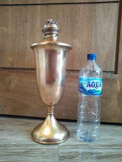 Lampu kuningan minyak jadul antik