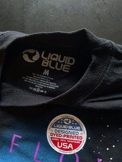 Liquid Blue Pink Floyd V Tie Dye