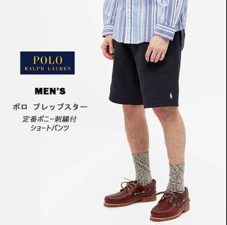 【零碼出清】M號 Polo Ralph Lauren 黑色/卡其色 小馬logo 美式棉質運動休閒短褲 棉褲