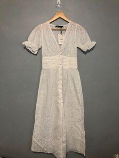 SALE! ZARA EYELET BNWT DRESS