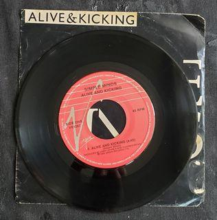 """Simple Minds - alive and kicking (7"""" single) vinyl Record"""