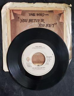 """The Who - You better you bet (7"""" single) vinyl Record"""