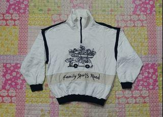 Vintage Vtg Jean.Charles de Castelbajac sport Sweatshirt Half Zip