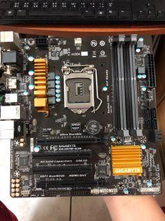 技嘉 Gigabyte GA-H97M-D3H 二手主機板 socket 1150 零件機