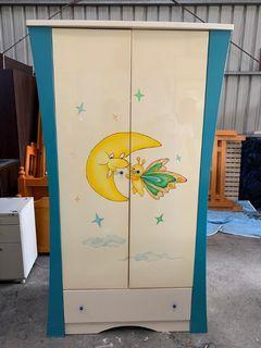 大慶二手家具 3.5尺兒童一抽拉門衣櫃/推門衣櫃/收納櫃/掛衣櫃/儲藏櫃/置物櫃/衣櫃/衣櫥