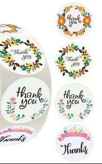 """🆕️ 50pcs Celebration Thanks Autumn Floral 3.8cm/1.5"""" Inch Sticker Labels"""