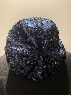 Blue Beret with Sequins