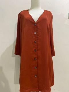 brick button dress