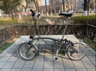 Brompton 2020 Raw Lacquer M6L Foldable Trifold Folding Bike