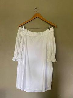 Cotton On White Off-shoulder Dress
