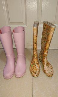 Authentic Crocs pink Rainboots rain boots size 5 bought in Singapore