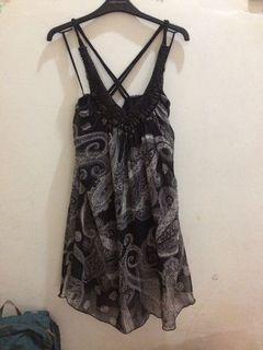 dress hitam malam