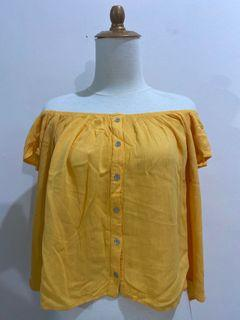 forever 21 yellow sabrina top