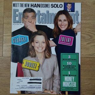 George Clooney , Julia Roberts , Jodie Foster - Entertainment Weekly magazine May2016