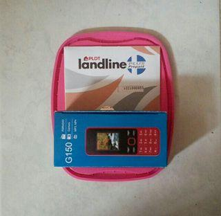 Instant pldt landline sim with 50 load and with basic keypad cellphone with games