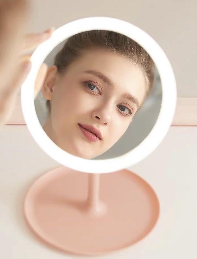 Led Makeup Mirror Desktop Dormitory, Led Makeup Mirror Desktop