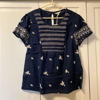 Lucky embroidered top with tags
