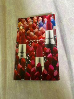 MAC lipstick sample card