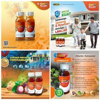 Minuman Kesehatan Prebiotik Sari Buah Biojanna SB19 Manggis dan Sirsak