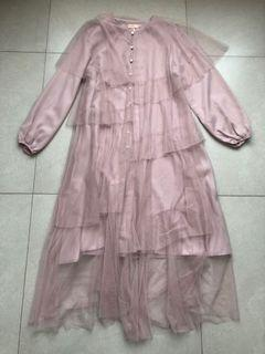 NEW WITH TAG | Hijab Chic Lavender Tull Dress 2020 Collection | Dress Muslim/Hijab Ungu Lilac Tille Tulle