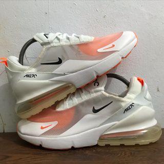 Nike Airmax 270 Translucent Upper White Orange (AQ8050-103) Like New 98%