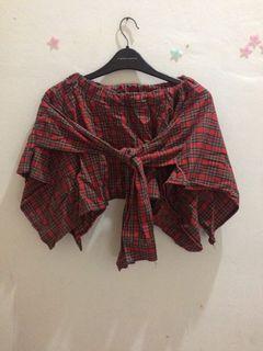 rok mini baju flanel