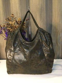 Salad… Dark Moss Green Soft Buttery Leather Totebag