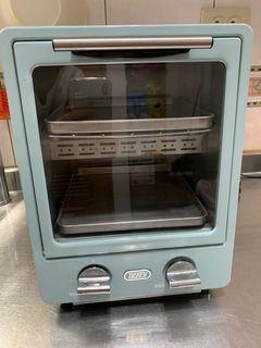 日本Toffy馬卡龍綠色雙層烤箱 多功能迷你小型直立式電烤箱9L