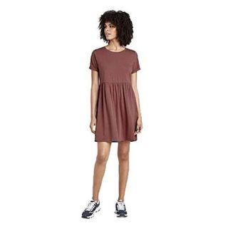 Uniqlo soft loose cotton Waffle T-shirt dress