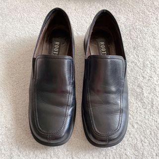 vintage roots black loafers