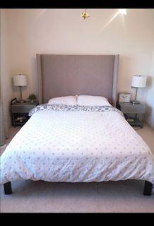West Elm Queen Bed, excellent condition
