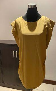 Yellow Lounge Dress with Unique Details
