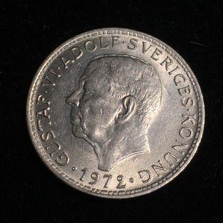 1972U Sweden 5 Kronor - Gustaf VI Adolf