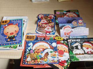 創意聖誕節折疊卡片 30張