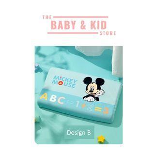 Baby / Kids Natural Latex Contour Pillow   Baby Disney velvet pillow case - MICKEY BLUE DESIGN B