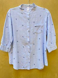 Cute Linen Blue Shirt