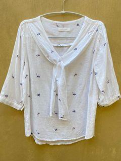Cute white linen shirt