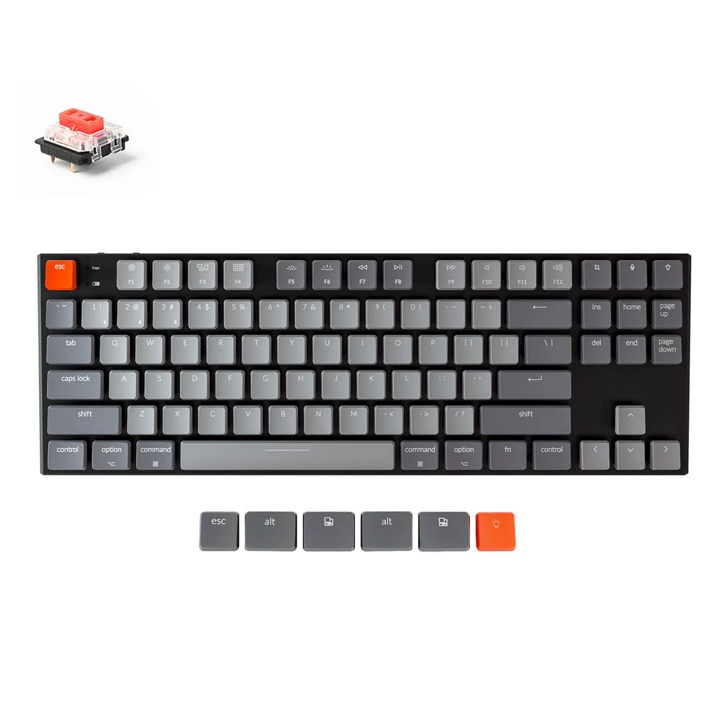Keychron k20v20 red linear switches RGB, Computers & Tech, Parts ...
