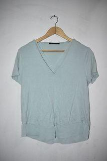 Marks & Spencer Collection Mint Green Blouse (UK 12 or Large)