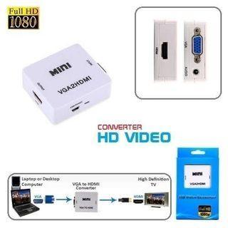 Mini HDMI To AV RCA Adapter Mini HDMI 2AV Converter Box 1080P