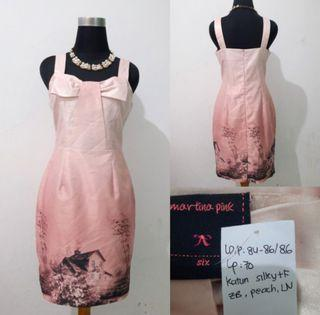 Pink Bow Bodycon Dress by Martina Pink