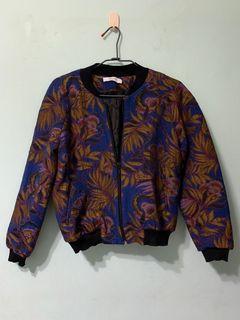 Promod Floral Bomber Jacket