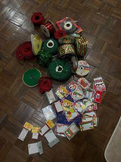Ribbons and Christmas Tags - HUGE bundle