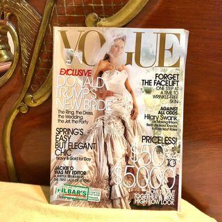 VOGUE - Bride Melania Trump on the cover (Fashion Style Donald Trump Bride Wedding)