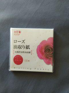 玫瑰香氛吸油面紙×4包
