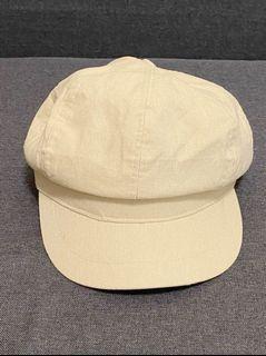 淺米白報童帽
