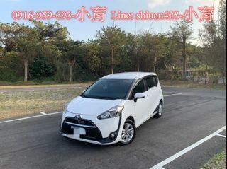 《《  2017年 Toyota SIENTA 1.8cc 五人座、雙滑門、I-KEY 》》
