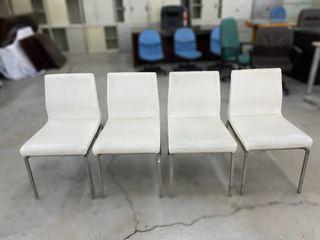 大慶二手家具 白色鐵腳餐椅組(四張)/洽談椅/書桌椅/電腦椅/書房椅/餐椅/高腳椅/吧檯椅