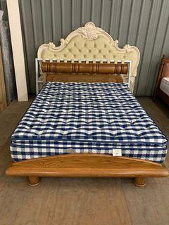大慶二手家具 五尺實木床架/床底/床組/床箱